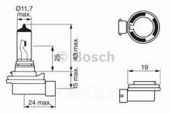 Лампа 12v 35w H8 Bosch арт. 1987302081