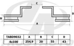 Диск Тормозной Toyota Probox/Succeed NCP58,59/VITZ NCP10,13