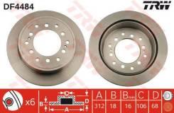 Диск тормозной задний TOYOTA LAND CRUISER 70, 90, 120, LEXUS GX470 DF4484 trw DF4484 в наличии