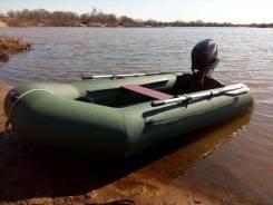 Продам лодку Гелеос 290 + мотор Ханкай 6 л. с.