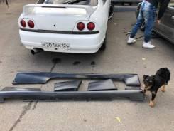 Пороги накладки боковые + задние накладки nissan skyline R33 купе