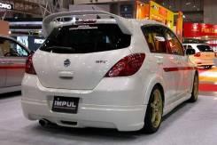 Задняя губа Nissan Tiida С11 Impul