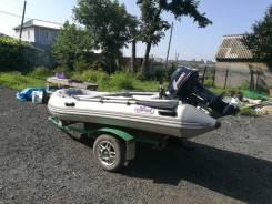 Лодка svat360 с мотором тохатсу 18