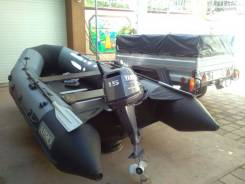 Продаю лодку AERO 360, Мотор Yamaha F15 AMHS, прицеп КМЗ 8284