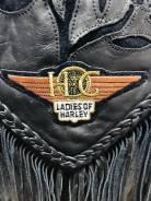 Крутой женский жилет Harley Davidson - кожа