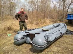 Лодка с мотором и электронасосом