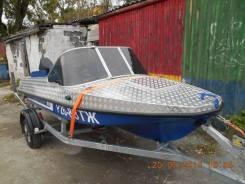 Продам комплект: Лодка ОБЬ-М, мотор Tohatsu30, прицеп.