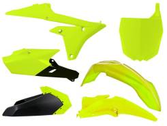 Комплект пластика R-Tech Yamaha YZ250F 14-18, YZ450F 14-17 (R-KITYZF-GF0-614) неоновый желтый/черный