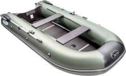 Лодка пвх Rush (Раш) 3000 СК (слань, киль) зеленый/черный