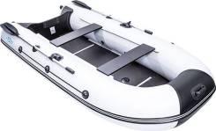 Лодка пвх Rush (Раш) 3300 СК (слань, киль) светло-серый/черный