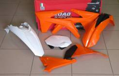 Комплект пластика R-Tech KTM SX125-250 2012, SXF250-450 11-12 оранж/белый/черный (R-KITKTM-OEM-509)