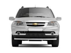 Защита переднего бампера одинарная 63 мм Chevrolet Niva 2009