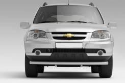 Защита переднего бампера одинарная 63мм Chevrolet Niva 2009