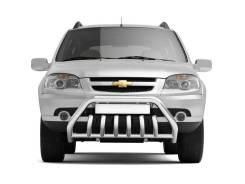 """Защита переднего бампера с защитой картера """"Люкс"""" Chevrolet Niva"""