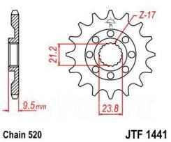 Звезда JT передняя JTF1441.13SC RMZ/RMX450
