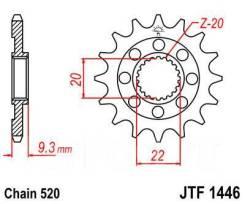 Звезда JT передняя JTF1446.13SC KX250F