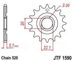 Звезда JT передняя JTF1590.14SC YZ/WR250