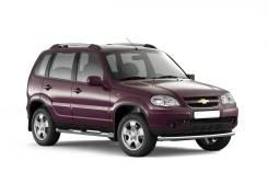 Защита порогов с накладкой Chevrolet Niva 2009-