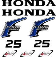 Наклейка на крышку лодочного мотора Honda 25 отправка по РФ