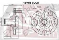 Ступица [12] Asva Hywhtucr Hyundai / Kia (Mobis): 52710-2E500 Hyundai Ix35 (Lm El Elh). Hyundai Tucson (Jm). Hyundai Tucson (Lm El Elh). Kia Sportage