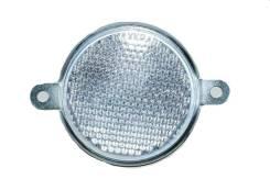 Светоотражатель белый(круглый) для легкового прицепа