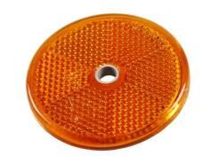 Светоотражатель желтый(круглый) для легкового прицепа