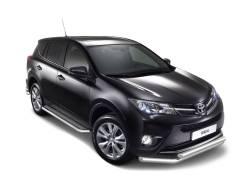 Защита порогов с алюм. площадкой Toyota Rav-4 2013-