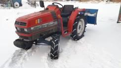 Чистка снега минитрактором