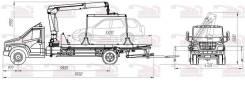 ГАЗ ГАЗон Next C41R33. ГАЗ NEXT Эвакуатор, сдвижная платформа с брилем Г/П 3Т С КМУ Hyva, 4x2