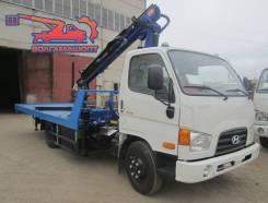 Hyundai HD78. Hyundai HD-78 Эвакуатор, сдвижная платформа 5000мм 3Т + Бриль C КМУ, 4x2