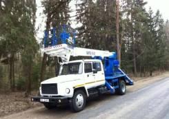 Випо-18. Автогидроподъемник ВИПО-18-01 на шасси ГАЗ-33098 (4х2)(5м. каб), 18,00м.