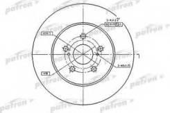 Диск тормозной Patron PBD4493 Lexus: 4351248081 4351248100 Lexus Rx (Ggl1_ Gyl1_ Agl1_). Lexus Rx (Mhu3_ Gsu3_ Mcu3_). Toyota (Gac) Highlander.