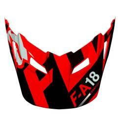Козырек V1 Sayak Youth, Цвет Красный/черный/белый Fox