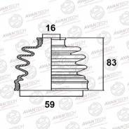 Пыльник привода BD0303 (71-424 Maruichi) Avantech