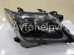 Фары Lexus LX570 Рестайлинг (Черные) LED ДХО