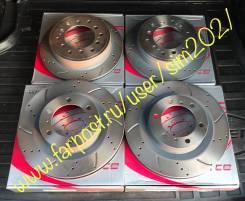 Диски тормозные перфорированные перед+зад LC Prado150/GX460