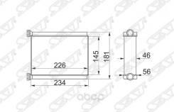 Радиатор Отопителя Салона Toyota Land Cruiser 100 98-07 Sat арт. ST-TY90-395-0
