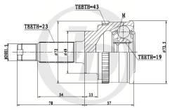 ШРУС внешний, JD JCT0041A