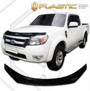 Дефлектор капота Ford Ranger ES 2009-2011 (Мухобойка)