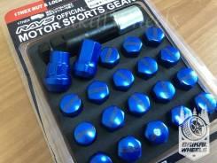 Стальные Спорт Гайки Rays с секреткой -=Синие=-