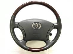 Оригинальный руль с косточкой красное дерево Toyota