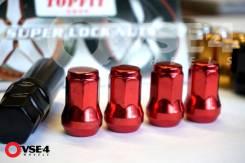 Спорт гайки Topfit (20 гаек + спец-ключ) Steel M12X1,5 RED [VSE-4]