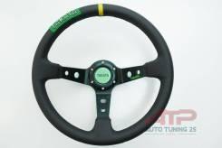 Спортивный дрифт руль Takata style, вынос, PVC- кожа, черный, 350мм