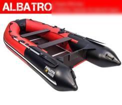 Лодка Ривьера 3400 СК Черно-красная Комби