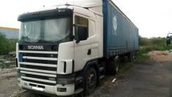 Scania. R114L с полуприцепом-штора Fruehauf, 10 640куб. см., 11 000кг., 4x2