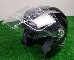 Мото Шлем открытый , Тайвань (Чёрный) Отправка по РФ, размер-М