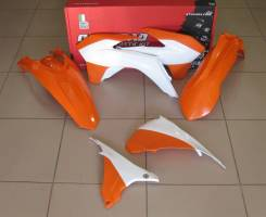 Комплект пластика R-Tech KTM EXC/EXCF 125-500 14-16 оранжевый/белый R-KITKTM-OEM-495