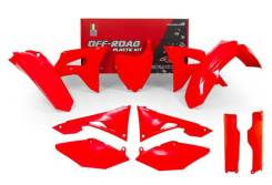 Комплект пластика R-Tech Honda CRF250R 2018/CRF450R 17-18 неоновый красный R-KITCRF-RF0-599