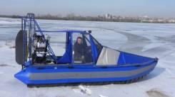 Продаю аэролодку амфибию снегоболотоход. 2018 год, двигатель стационарный, 135,00л.с., бензин