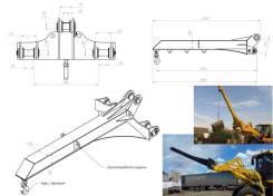 Кран-балки (грузовые стрелы) для фронтальных погрузчиков
